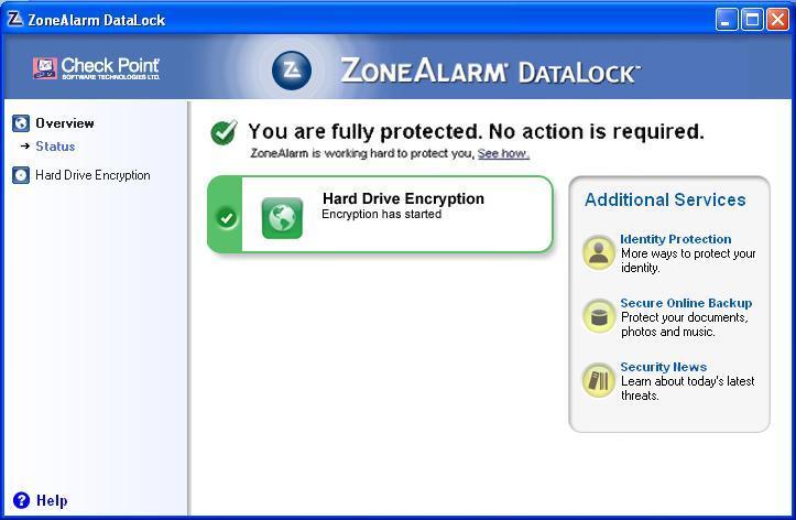 Cifra el disco de tu portátil o netbook con ZoneAlarm DataLock 47