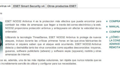 Versión 4.2 en castellano de ESET Smart Security y ESET NOD32 78