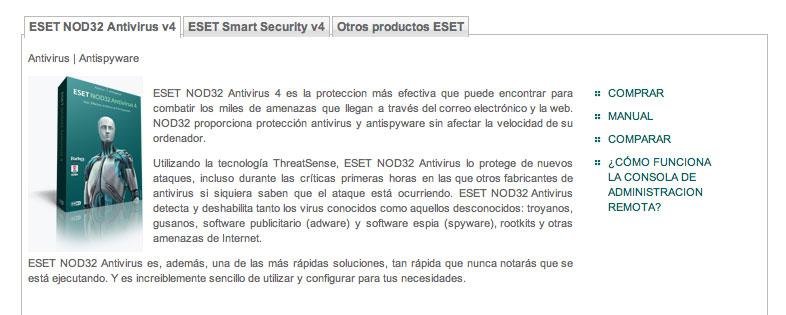 Versión 4.2 en castellano de ESET Smart Security y ESET NOD32