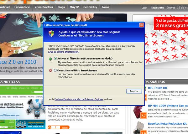 Microsoft presume de la seguridad de su Internet Explorer 8 52