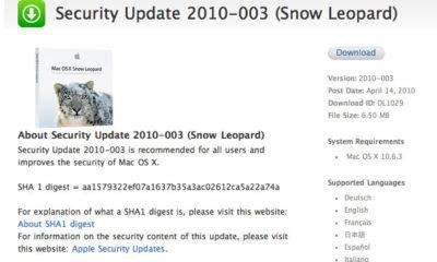 Actualizaciones de seguridad para Snow Leopard y Leopard 94