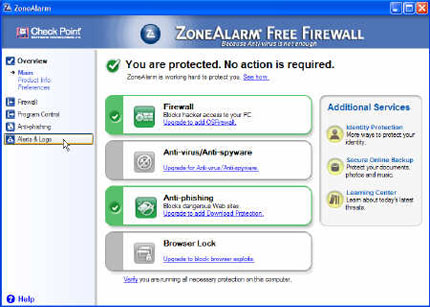 El cloud computing llega a ZoneAlarm Free Firewall de Check Point 53