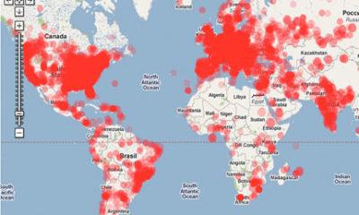 Google y su mapa del origen del spam, en tiempo real 141