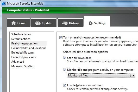 Microsoft Security Essentials 2 Beta, cada vez mejor 52
