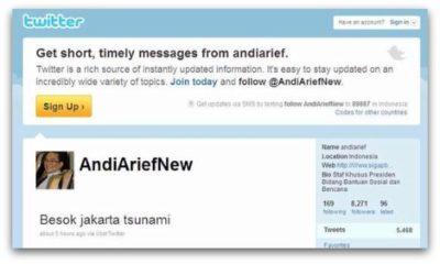 Falso aviso de Tsunami a través de cuenta oficial hackeada Twitter 62