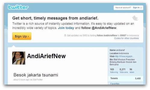 Falso aviso de Tsunami a través de cuenta oficial hackeada Twitter 48