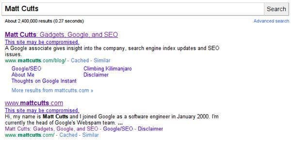 Google lanza notificaciones en su buscador sobre posibles hackeos de las webs 53