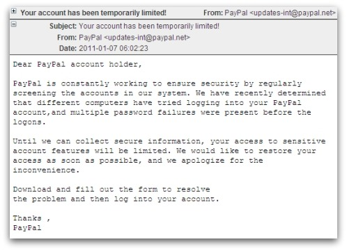 PayPal afectada por una estafa de phishing 51