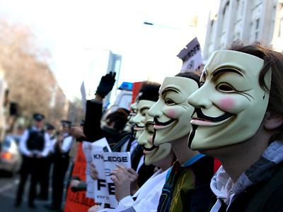 Anonymous tumba la web de la Academia de Cine antes de los Goya 48