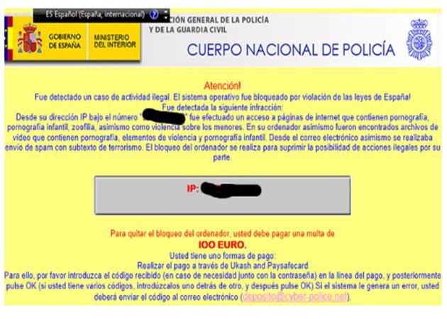 Estafa por Ramsonware: 'paga 100 euros por descargar pornografía' 49