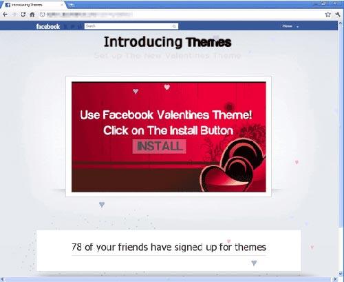 San Valentín en Facebook
