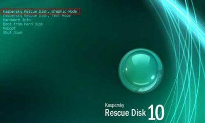 Guía completa de creación y uso de un USB con Kaspersky Rescue Disk 80