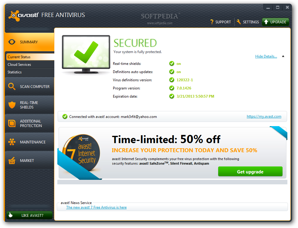avast! Free 7 Final disponible 49