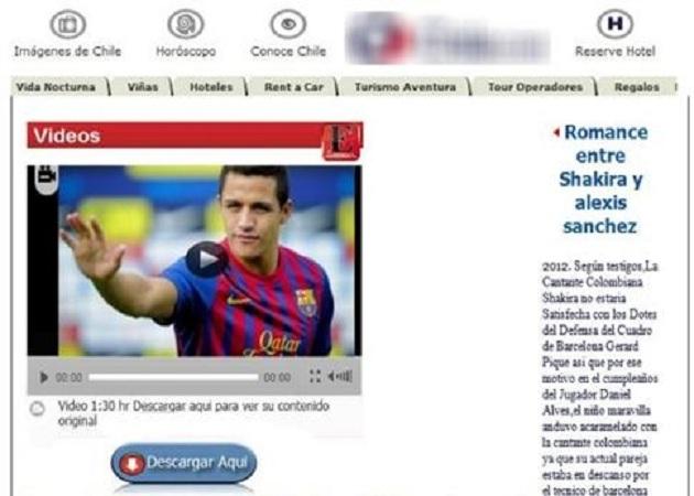 Una falsa relación entre Shakira y Alexis Sánchez, nuevo gancho para ciberestafas