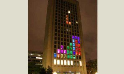 Hackers del MIT montan un Tetris gigante en un edificio de 21 plantas 59