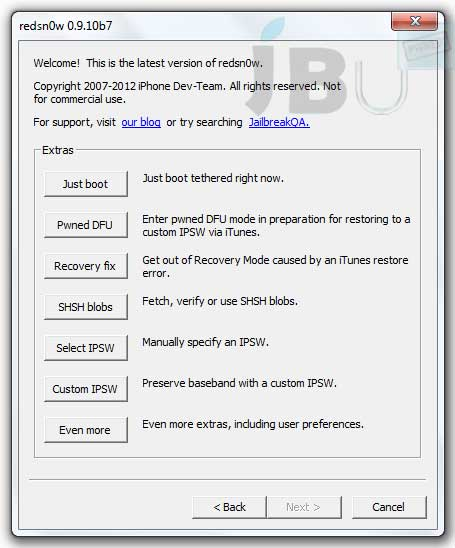 Nueva versión RedSn0w 0.9.10b7 incluye jailbreak Corona para chips A5 54