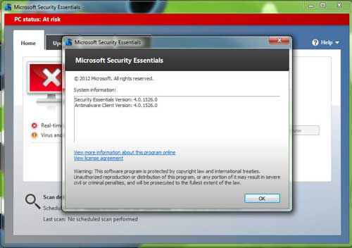 wbmse4 Microsoft publica la versión final del antivirus Security Essentials 4.0