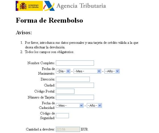 Cuidado con los fraudes por devoluciones de la Renta 2011 55