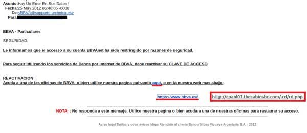Nuevo Phishing bancario con el BBVA como gancho 51