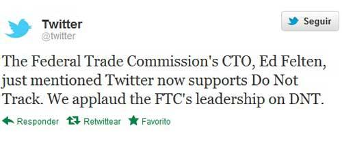Twitter anuncia soporte para el sistema anti-rastreo Do Not Track 56