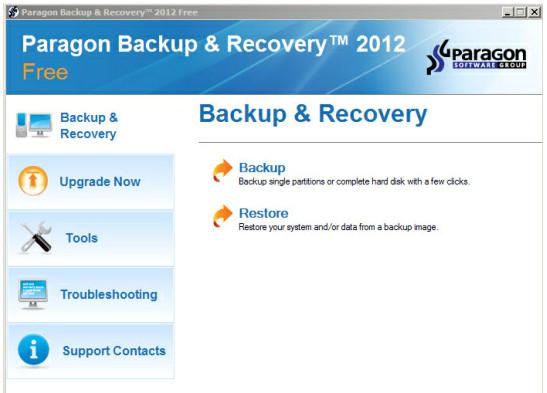 Paragon Backup & Recovery 2012, gratis y con soporte Windows 8 49