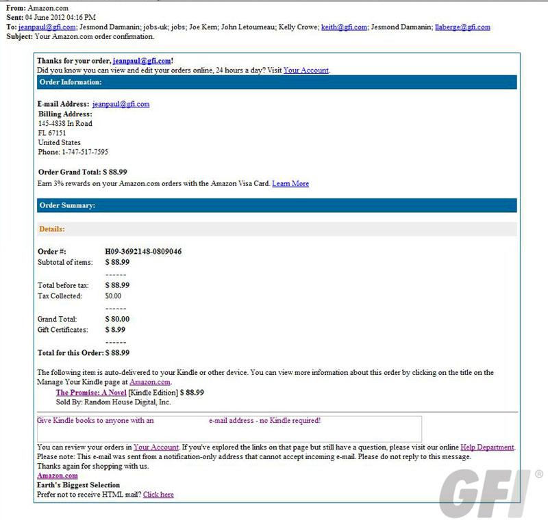 Correo falso de Amazon incluye exploit Blackhole 56