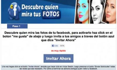 Cuidado con la aplicación 'Descubre quién mira tus fotos en Facebook' 92