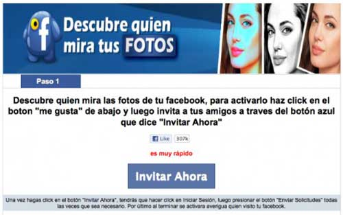 Cuidado con la aplicación 'Descubre quién mira tus fotos en Facebook' 49