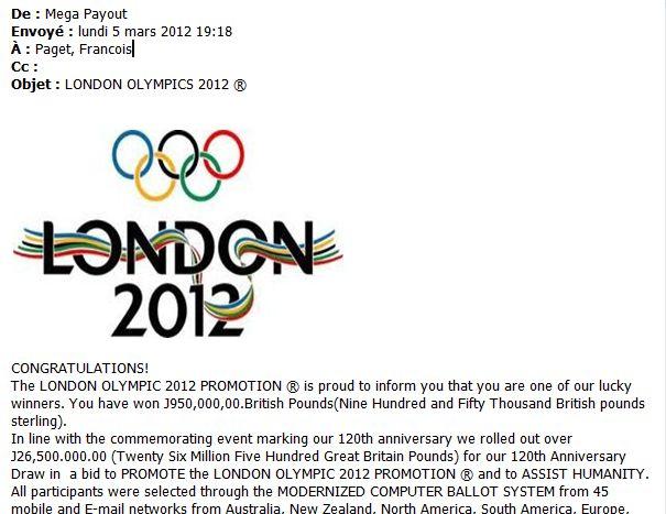 Nueva alerta de fraudes con los Juegos Olímpicos 2012 como gancho 49