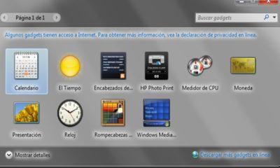 Microsoft recomienda desactivar Windows Sidebar y Gadgets por inseguros 75
