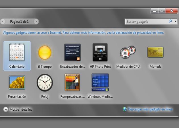 Microsoft recomienda desactivar Windows Sidebar y Gadgets por inseguros 47