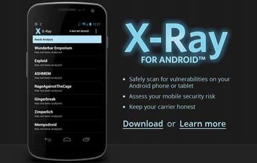 X-Ray escanea vulnerabilidades en terminales Android 53