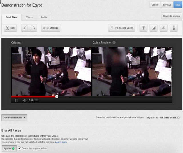 Google estrena el anonimato visual en YouTube 57