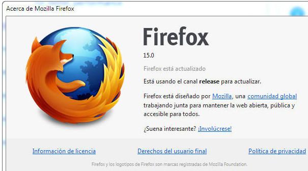 Mozilla corrige vulnerabilidades e implementa actualización silenciosa en Firefox 15 49