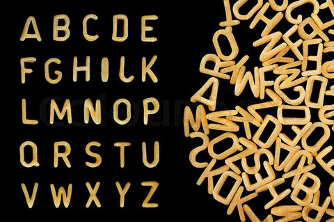 alphabet soup pasta font
