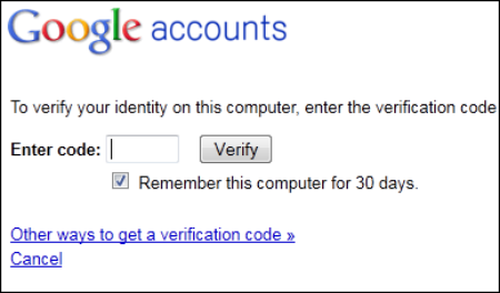 Google2StepVerificationCode
