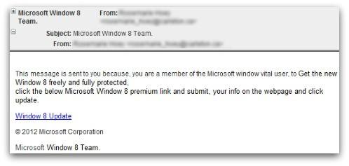 Ataque de phising promete Windows 8 gratis 52
