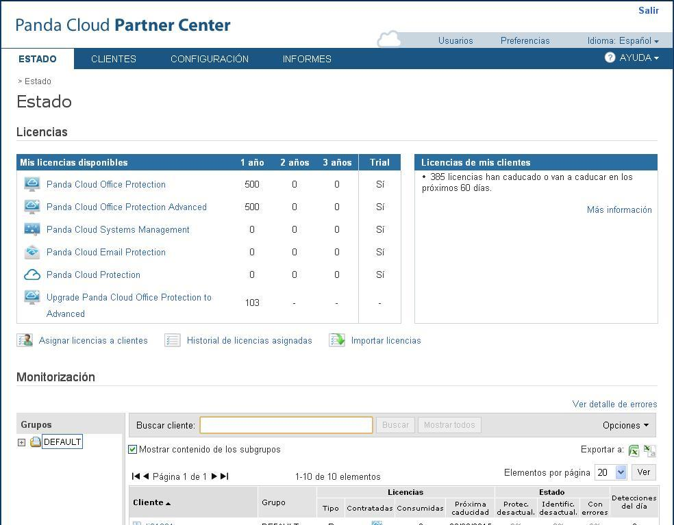 Panda Security lanza Panda Cloud Partner Center 2.2 49