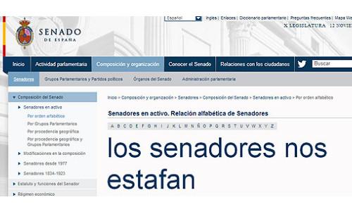 La web del Senado español se estrena con fallos de programación y ataque DoS 46
