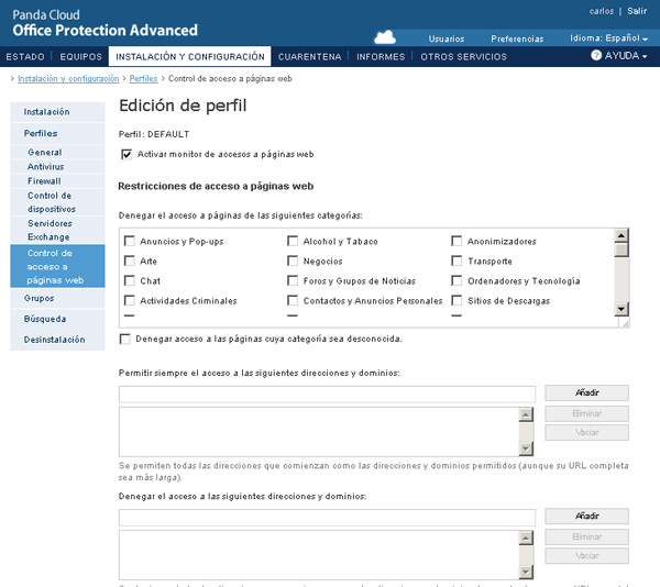 Panda Security lanza la versión 6.50 beta de Panda Cloud Office Protection Advanced 50