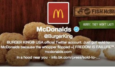 Hackean la cuenta de Twitter de Burger King para convertirla en McDonald's 51