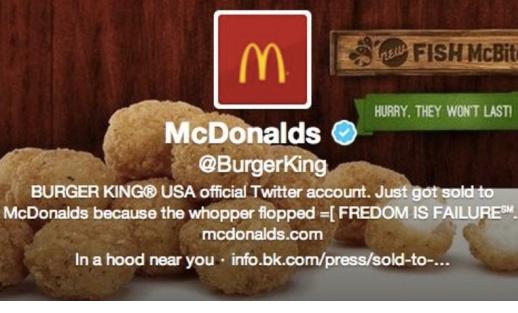 Hackean la cuenta de Twitter de Burger King para convertirla en McDonald's 47