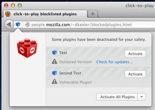Firefox bloqueará plug-in Java, Reader o Silverlight 49