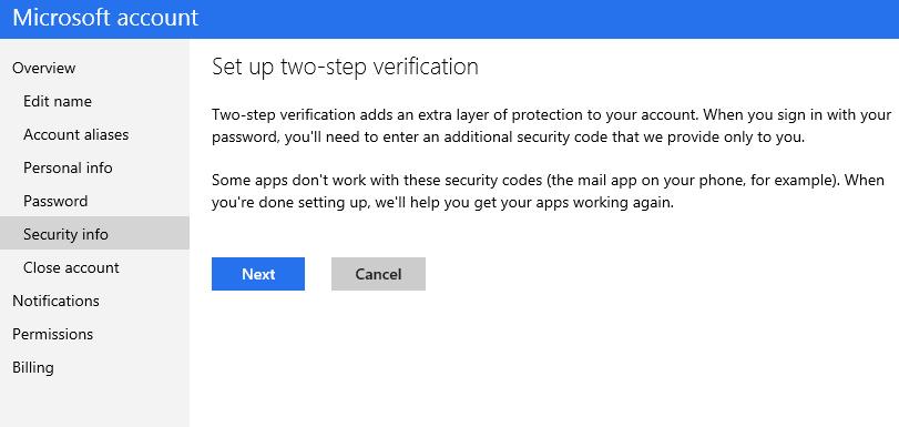 Microsoft también añadirá autenticación en dos pasos 48