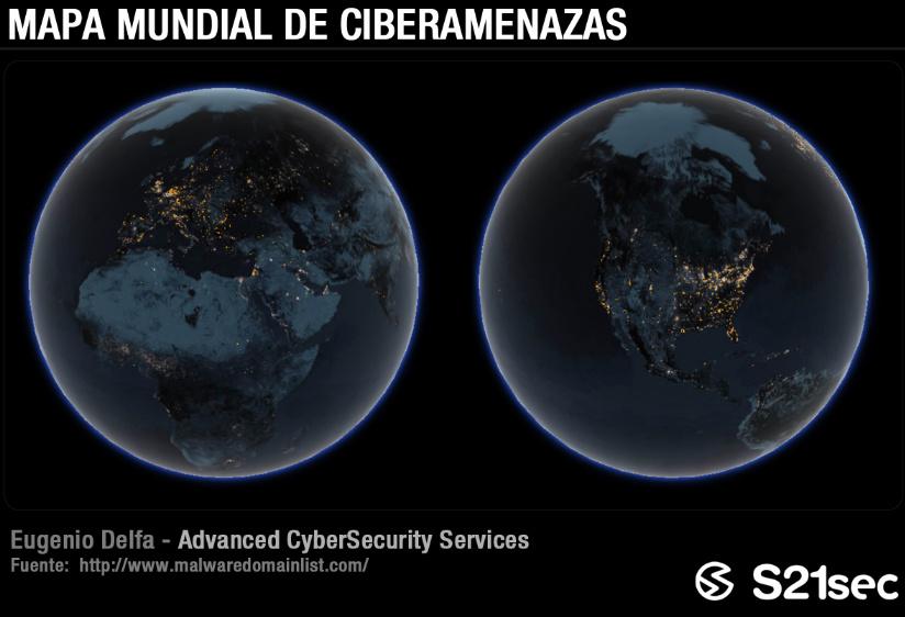 Mapa mundial de ciberamenazas en el Día de Internet 48