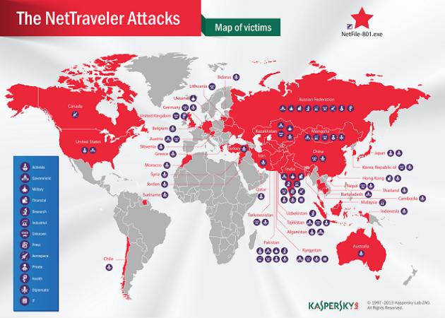 "Kaspersky Lab destapa la ""Operación NetTraveler"""
