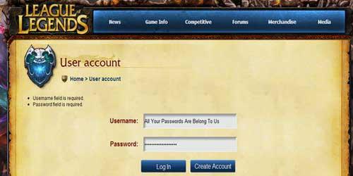 Las cuentas de League of Legends, nuevamente comprometidas