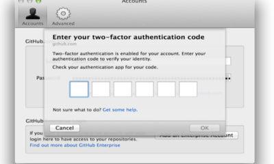 Github ofrece autenticación de dos factores