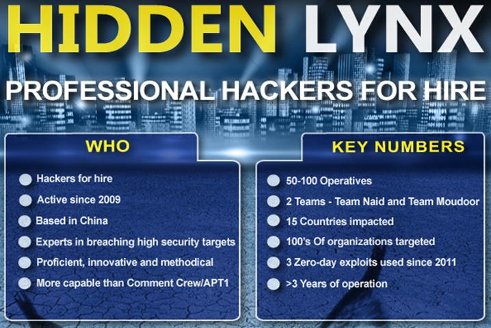 Symantec analiza el grupo profesional de atacantes 'Hidden Lynx'