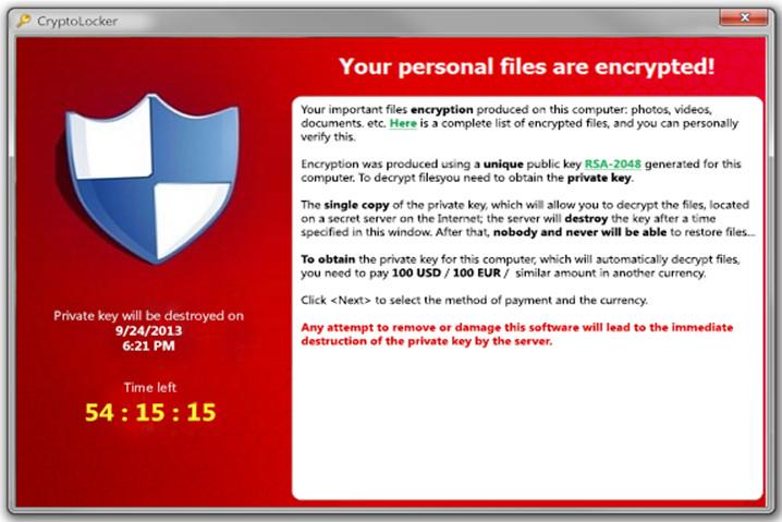 ransomwareCryptoLocker
